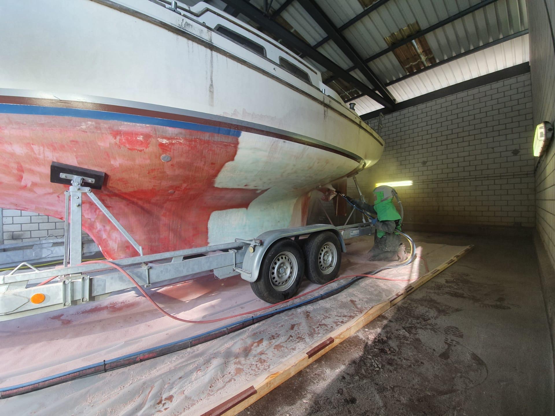 Boot auf Anhänger