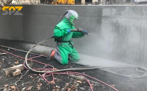 Beton strahlen - So werden Betonoberflächen richtig gereinigt